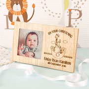 Personalised Noah's Ark Wooden Christening New Baby Frame