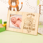 Personalised Farmyard Wooden Christening New Baby Frame