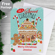 Personalised Gingerbread House Christmas Card