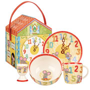 Hickory Dickory Dock 4 Piece China Breakfast Set