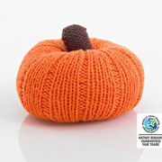 Pebble Fair Trade Knitted Pumpkin Rattle