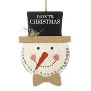'Days 'Til Christmas' Hanging Snowman Advent Calendar