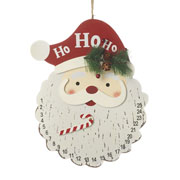 Days Until Christmas Santa's Head Hanging Advent Calendar
