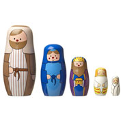 Wooden Nesting Doll Nativity Set