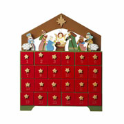Wooden Nativity Advent Calendar Box