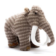 Monty the Knitted Woolly Mammoth Toy