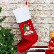 Personalised Tartan Santa Christmas Stocking