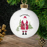 Personalised Traditional Father Christmas Bauble