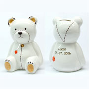 Personalised Teddy Bear China Money Box