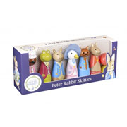 Wooden Peter Rabbit Skittles by Orange Tree Toys