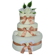 Unisex Three Tier Baby Clothes Nappy Cake