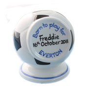 Personalised Boy's Bone China Football Money Box