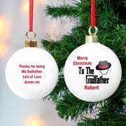 Exclusive Personalised The Godfather Bauble