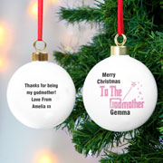 Exclusive Personalised The Godmother Bauble