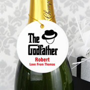 Exclusive Personalised Godfather Round Ceramic Decoration