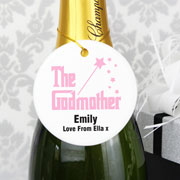 Exclusive Personalised Godmother Round Ceramic Decoration
