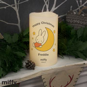 Personalised Miffy Moon and Stars Nightlight LED Candle