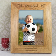 Personalised 5 x 7 Inch Grandchild Wooden Photo Frame