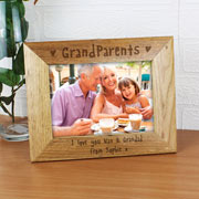 Personalised 5x7 Inch Grandparents Wooden Photo Frame