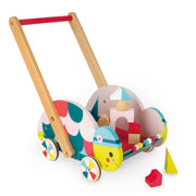 Janod Turtle Early-Learning Wooden Cart Baby Walker
