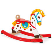 Punchy Wooden Rocking Horse by Janod