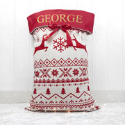 Traditional Personalised Christmas Sack Soft Hessian