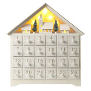 Wooden Christmas Scene Advent Calendar With Led Lights