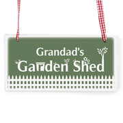 Personalised Garden Shed Wooden Sign Any Name