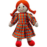 Lanka Kade Fair Trade White Skin Red Haired Mum Doll