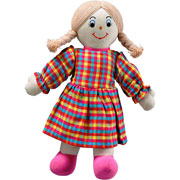 Lanka Kade Fair Trade White Skin Blonde-Haired Mum Rag Doll
