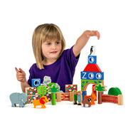 Fair Trade Zoo Building Blocks Set by Lanka Kade