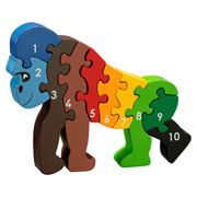 Fair Trade Gorilla 1 – 10 Jigsaw