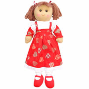 Large Rag Doll with Love Heart Dress