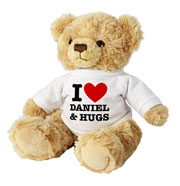 Teddy Bear With Personalised I Heart T-Shirt