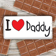 Personalised I Heart Milk Chocolate Bar Free Delivery