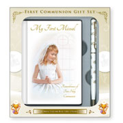 Girl's First Holy Communion Missal and Pen Gift Set