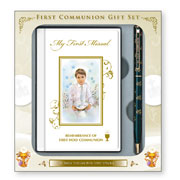 Boy's First Holy Communion Missal and Pen Gift Set