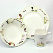 Personalised Bone China Farmyard Dinner Set