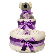 Two Tier Cute Koala Nappy Cake Baby Gift