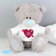 Personalised Tatty Teddy Bear with Heart T Shirt