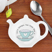 Personalised Vintage Tea Cup Tea Bag Rest Any Message