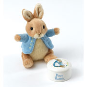 Peter Rabbit Trinket Box and Soft Toy Baby Gift Set
