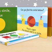 Personalised First Steps Learning Shapes Board Book