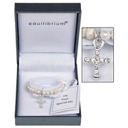 Fresh Water Pearl Christening Bracelet by Equilibrium