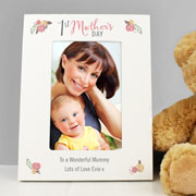 Personalised Floral 1st Mother's Day 6x4 Inch Photo Frame