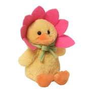 Quacking Pink Flower Duckling Toy by Gund