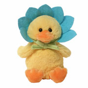 Quacking Blue Flower Duckling Toy by Gund
