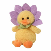 Quacking Purple Flower Duckling Toy by Gund