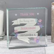Personalised Garden Bloom Crystal Token Any Text