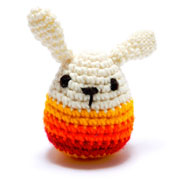 Chunky Crochet Knitted Striped Bunny Baby Rattle
